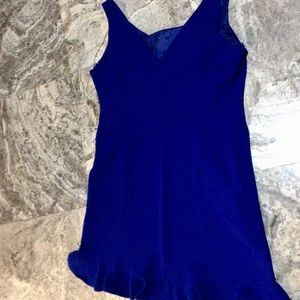 Evan Picone Royal Blue Sleeveless Fitted Dress 16